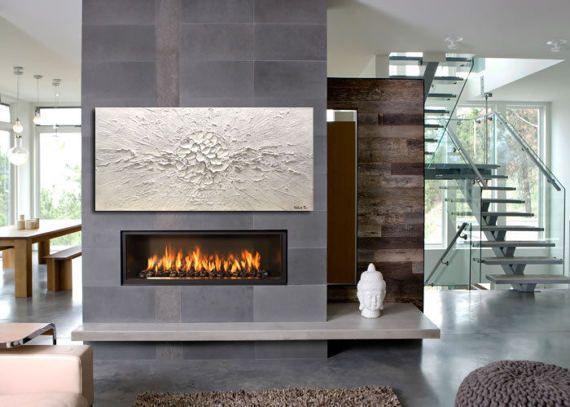 Die besten 25+ zeitgenössischer Gaskamin Ideen auf Pinterest - luxus wohnzimmer modern mit kamin