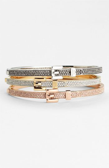 Michael Kors 'Brilliance' Hinged Bangle | Nordstrom ... need this in rose gold!
