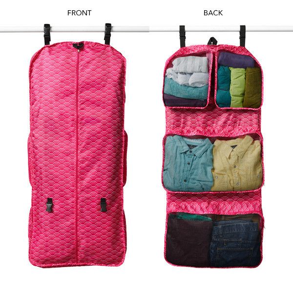 The Garment Travel Organizer is an ingenious way to pack for a weekend trip. One side is your typical garment bag, and the other side has built in packing cubes. The pink Emerson pattern is a great way to tie it into your Valentines Day gift theme!
