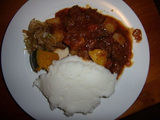 Classic, basic african style meat relish and pap | African Style Cuisine