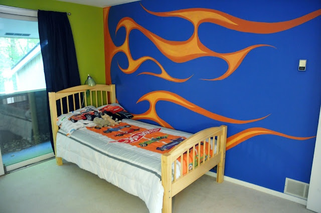 zeek's hot wheels bedroom