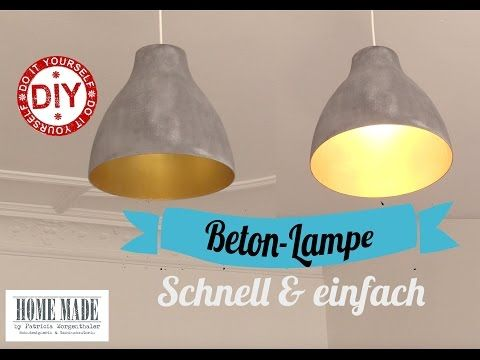 "How to: Schnelle ""Beton""-Lampe I Deko Inspirationen selbstgemacht I Homemade by Patricia - YouTube"