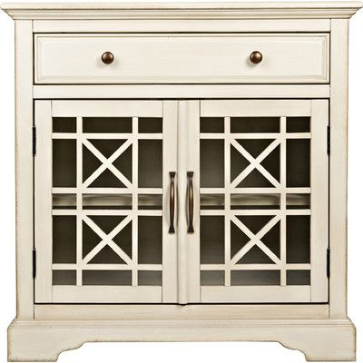 Darby Home Co Cafferata 1 Drawer 2 Door Accent Chest & Reviews | Wayfair