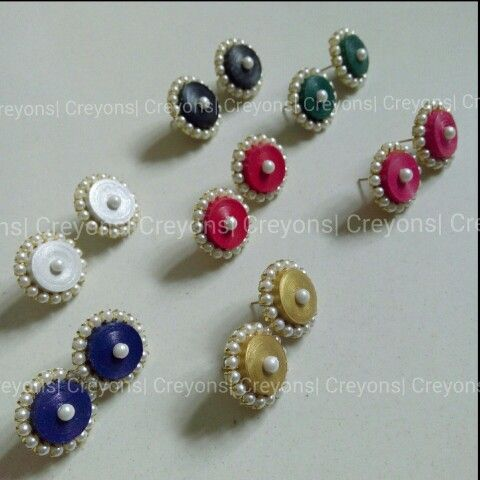Traditional Quilled earrings(studs)