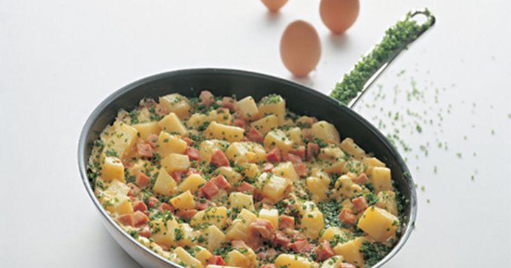 En lækker lille omelet fuld af flotte farver.