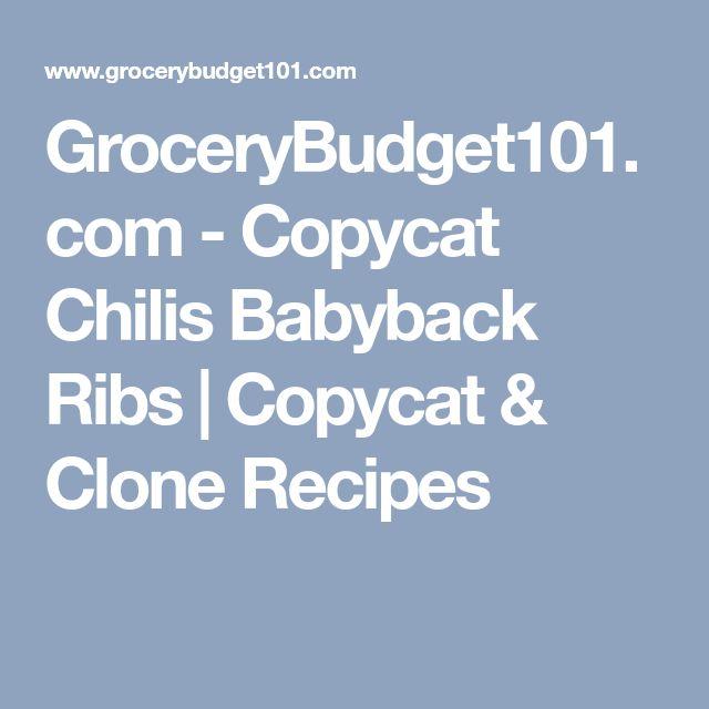 GroceryBudget101.com - Copycat Chilis Babyback Ribs | Copycat & Clone Recipes