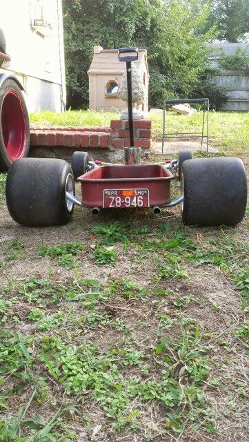 Custom hot rod rat rod radio flyer I built for the kiddos