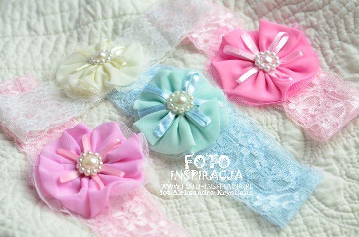 Opaski dla dziewczynek do kupienia w studiu foto:) www.foto-inspiracja.pl