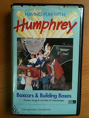 HUMPHREY B BEAR~HAVING FUN WITH HUMPHREY~BOXCARS & BUILDING BOXES~RARE VHS VIDEO