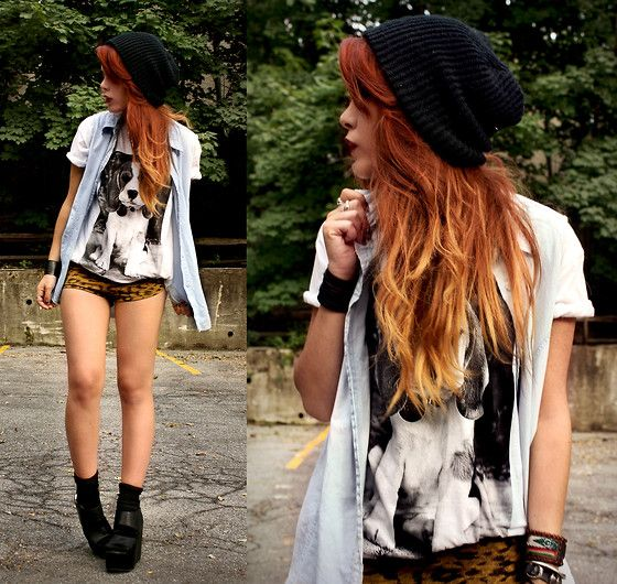 More Ombre: Hair Colors, Hairstyles, Red Hair, Hipster Girls, Outfit, Beanie, Red Ombre Hair, Redhair, Cute Clothing