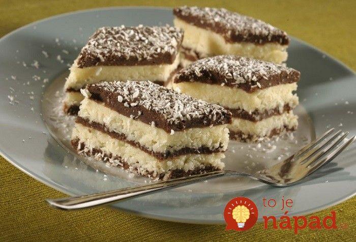 Tento dezert vyzerá fantasticky a chutí ešte lepšie. Pripravte si vynikajúcu nepečenú dobrotu z kokosu, kakaa a maslového krému.