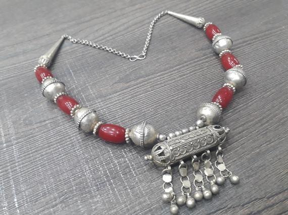 Tribal Nomad Ethnic Yemenite Necklaces Vintage Yemeni Bedouin Choker Necklace Gypsy Jewelry Middle-Eastern Necklace
