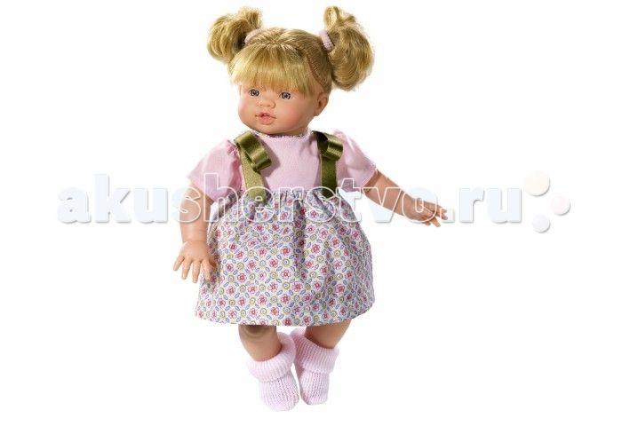 ASI Кукла Эмма 36 см 433780  ASI Кукла Эмма 36 см 433780 с симпатичным личиком и очаровательным нарядом!  Голова, руки и ноги у этой куклы выполнены из винила, а тело из ткани с наполнителем. У Эммы пухленькие пальчики на руках и ногах, маленькие выразительные черты лица, живые глазки и розовые губки, приоткрытые в улыбке, придают ей особое очарование!   У куколки Эммы очаровательные густые волосики собранные в два озорных милых хвостика. Одета куколка в нарядное платьице с атласными…