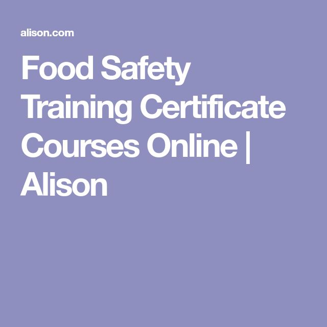 The  Best Food Safety Certificate Ideas On   Food