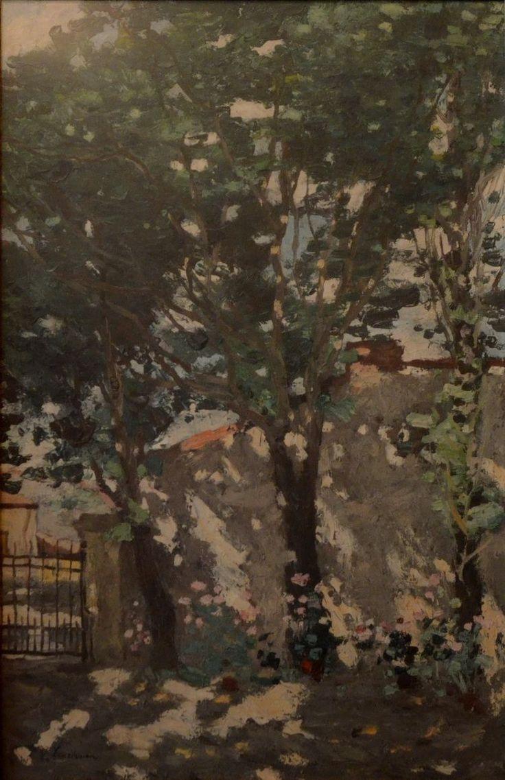 Stefan Luchian - Colț din Strada Povernei ulei/pânză - Muzeul de Artă Constanța