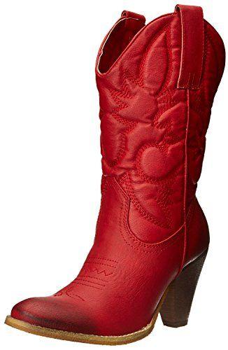 spite womens saddleup western boot red 75 b us spite