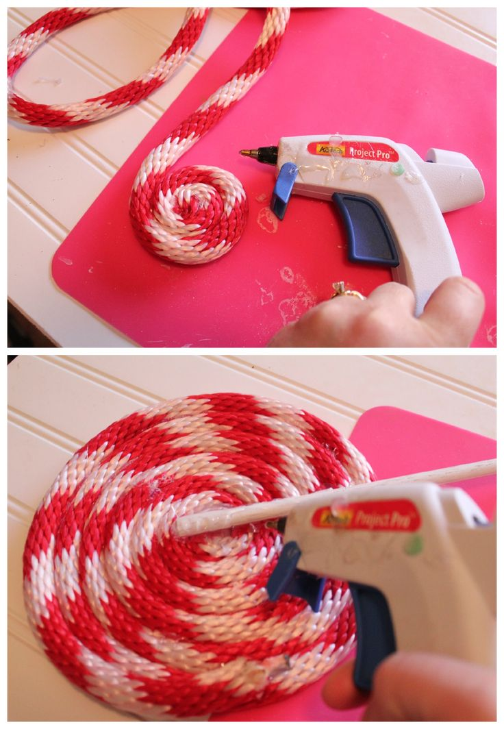 DIY Peppermint Lollipops Christmas Decor « Mom Endeavors