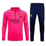 FC Barcelona 2015-16 Season Pink Sweater Suit With Pants [B919]