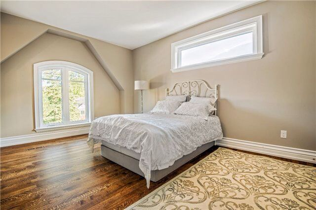 Spacious bedroom with oversized windows full of sunlight and has private access to shares powder room