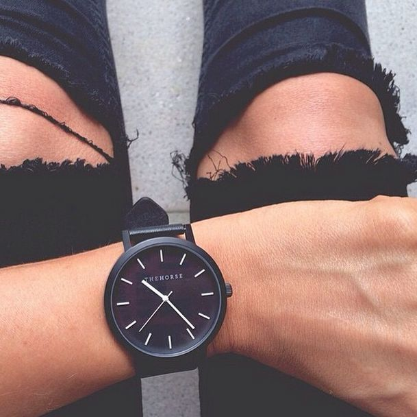 All Black Timepiece from The Horse. Image via @themelbourneedit