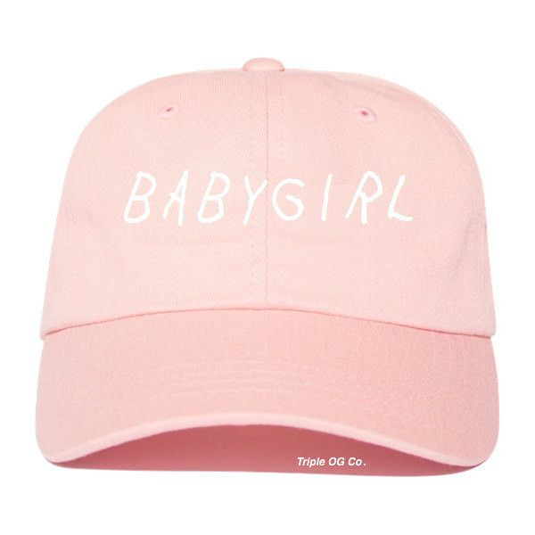 Babygirl Baseball Cap Baseball Hat Tumblr Style Hat Babygirl Drake Hat... ($11) ❤ liked on Polyvore featuring accessories, hats, ball caps, cotton hat, crown cap, baseball cap and cotton baseball cap