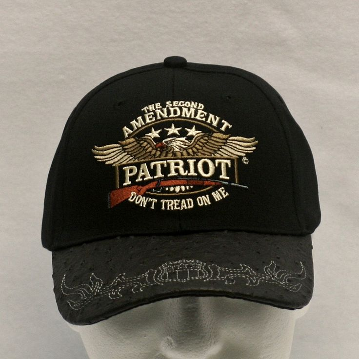 "2A Embroidered Ballcap - """"The Second Amendment Patriot- Don't Tread On Me"""""