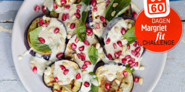 Dit gerecht met Libanese invloed is lichter dan de meeste aubergine gerechten uit die regio. Sumak heeft een scherpe citroensmaak.