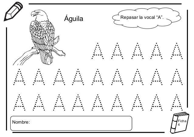 Resultado de imagen para actividades con la vocal a
