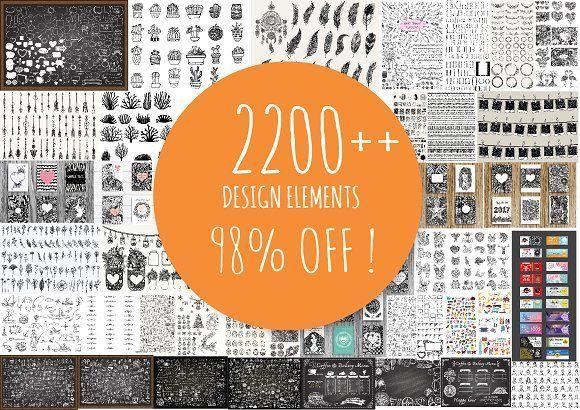 98 % OFF 2200++ Design elements by Bimbim on @creativemarket