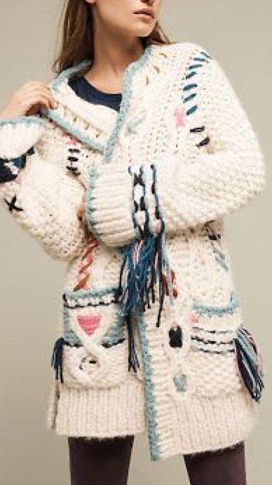 Aztec folk cardigan