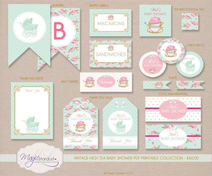 SHABBY CHIC BIRTHDAY INVITATIONS | Shabby Chic/Floral Theme