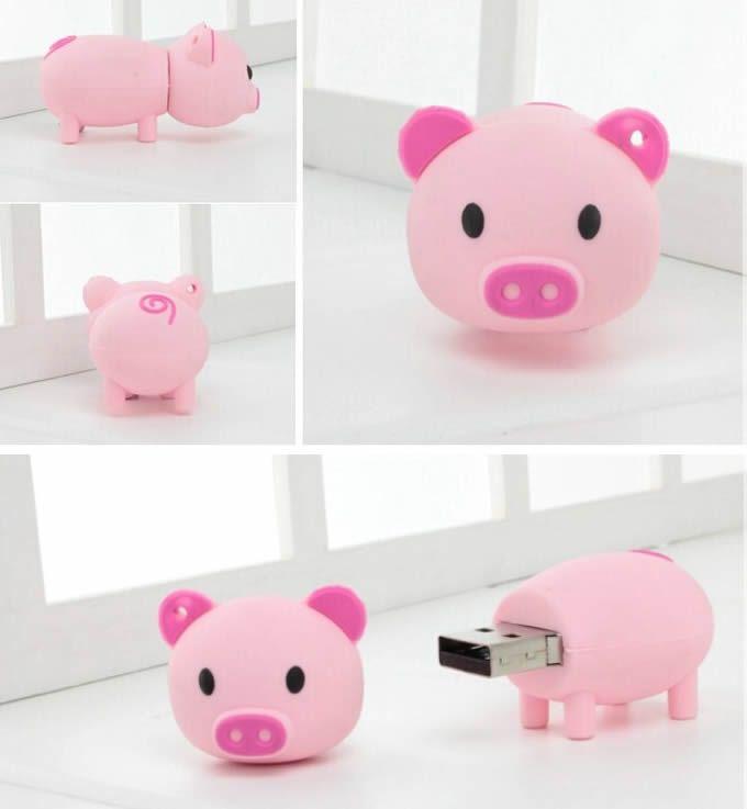 8G Pig Shaped USB Flash Drive