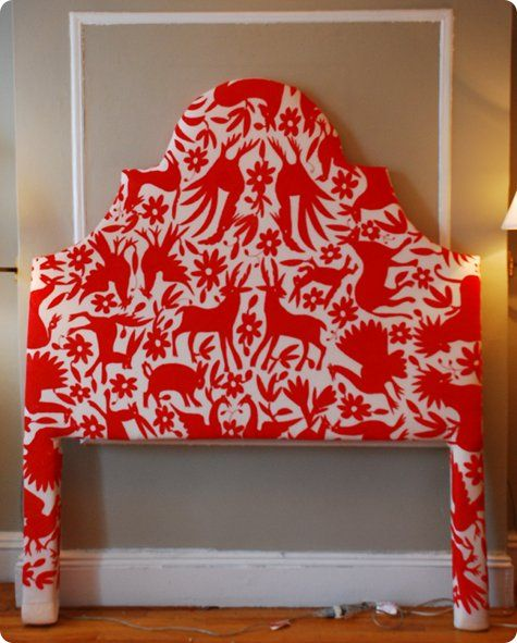 great step-by-step instructions on upholstering a headboard yourself. #DIY #headboard #fabric
