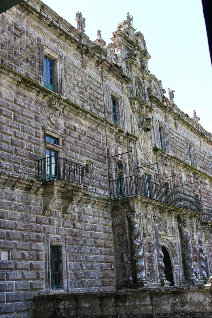 Fachada del Monasterio de Santa Maria la Real de Oseira. San Cristovo de Cea. Ourense.