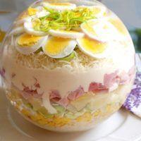 Recept : Vrstvený salát   ReceptyOnLine.cz - kuchařka, recepty a inspirace