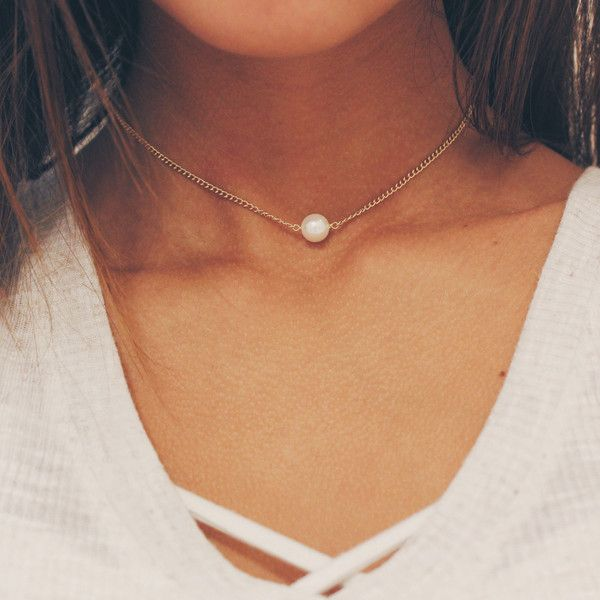 c7e6c3aaa6 Pin by Gabriella Rose on Jewelry | Pearl choker necklace, Gold choker  necklace, Jewelry