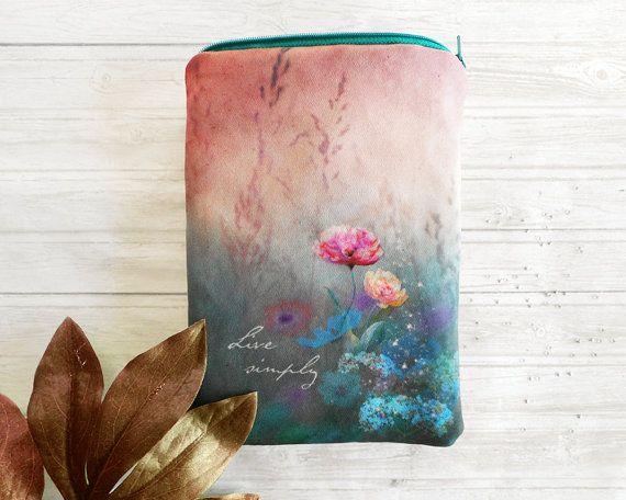Purse organizer, makeup organizer bag, small zippered bag, purse insert, bag organizer, floral fabric, cosmetic pouch, wallet fabric purse