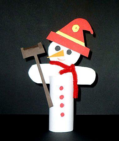 Schneemänner aus Klopapierrollen - Weihnachten-basteln - Meine Enkel und ich