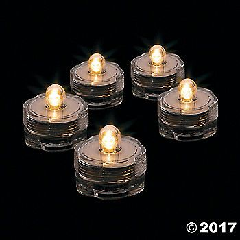 Use these underwater LED lights to create unique centerpieces for any event. Submersible tea lights are ideal for DIY wedding decorations, prom décor and ...