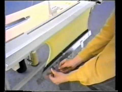 Ложная резинка 2*1. Машинное вязание - YouTube