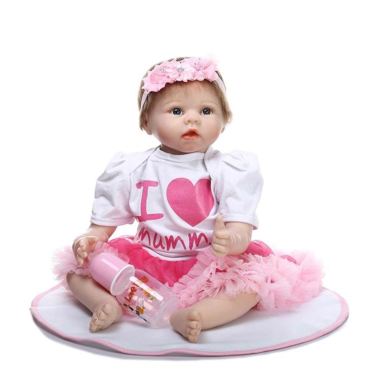 "78.96$  Buy here - http://ali6ya.worldwells.pw/go.php?t=32690157993 - ""22"""" reborn babies toys for children Adorable real looking girl doll reborn bonecas reborn de silicone	"" 78.96$"