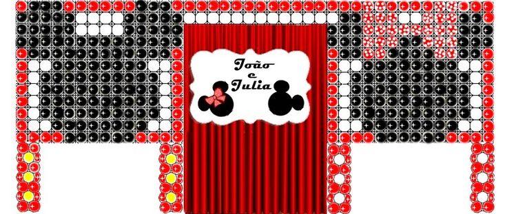 Projeto de balões - Minnie e Mickey / Criação - Rosilene Pereira