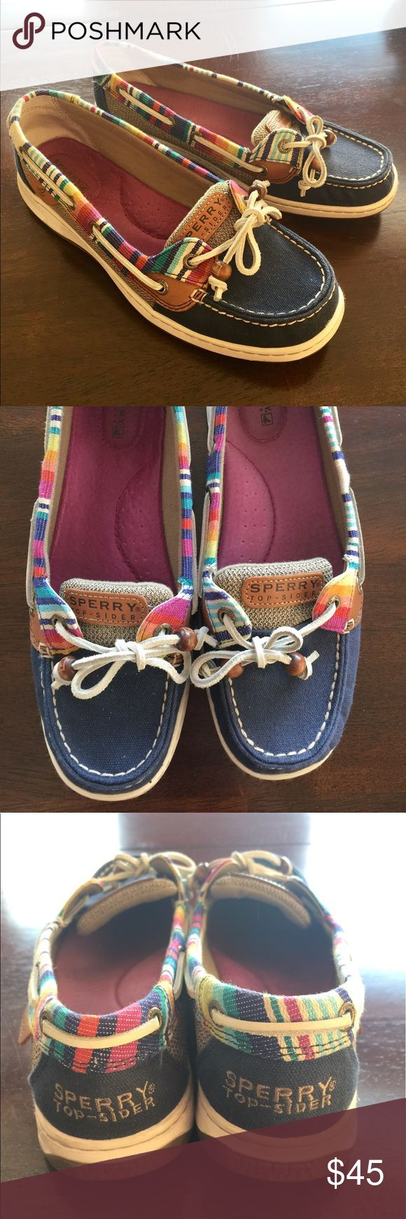 Sperry Angelfish Navy Serape (9265984) Like new; worn two times. Canvas/fabric upper with leather details. Sperry Top-Sider Shoes Flats & Loafers