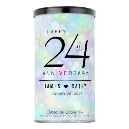 Elegant 24th Opal Wedding Anniversary Celebration Hot Chocolate Drink Mix - anniversary gifts diy cyo party