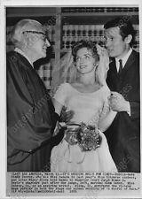 1959 Cindy Conroy Henry Silva (actor) wedding