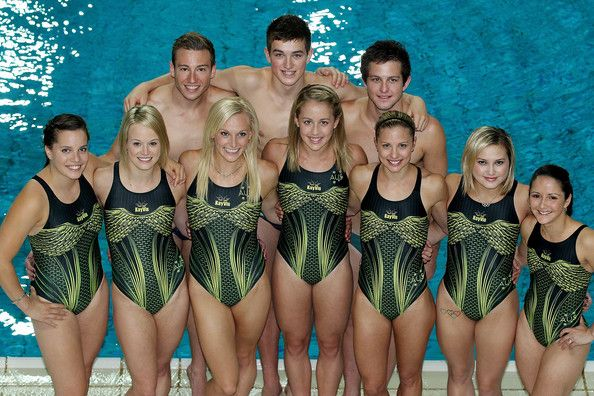 The Australian diving team pose after the Australian 2012 Olympic Games team announcement at Chandler Aquatic Centre on May 29, 2012 in Brisbane, Australia.