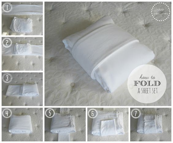 Fold bed linens, sheets and towels