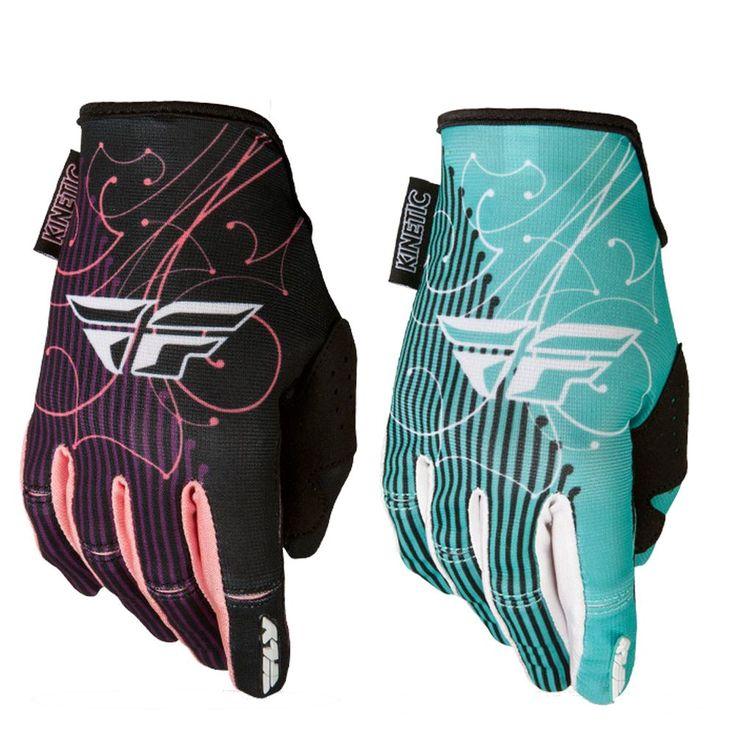 FLY Racing Kinetic Motocross Womens MX Dirt Bike Off-Road ATV Quad Gloves