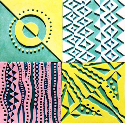 Printing with Gell Arts®: Making Foam Texture Plates for Gelli Printing!