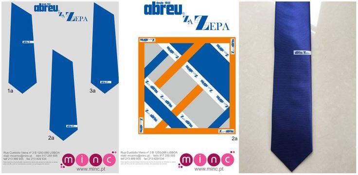 Estudo e encomenda de gravatas e lenços personalizados para Agência de Viagens Abreu/Zepa em Angola.  Tecido feito em tear para as gravatas e os lenços serão feitos pelo método tradicional de quadros.